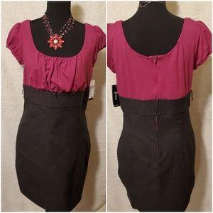 B-Wear Dark Pink & Gray Dress